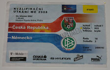 OLD TICKET * EURO 2008 q * Czech Republic - Germany in Prague