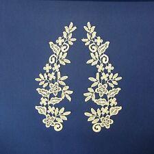 Champagne Cream Mirror Pair Lace Applique #66 Tutu Dance CostumeTrim