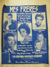 Partition Mes Frères Billy Maxted Dominique Anny Gould Linel Péri Patrice Mario