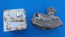 Coin Banks-Rocking Horse Leonard and ABC Cube Silver plate