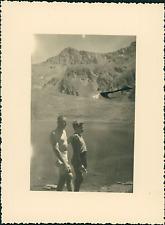 France, Haut-Queyras, Vue sur le Lac de Ségure  Vintage silver print Tirage