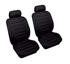 VW TOUAREG 03-on Black Front Leather Look Car Seat Covers Airbag Ready
