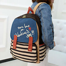 Cute Vintage Canvas Satchel Backpack Rucksack Shoulder Leisure Travel School Bag