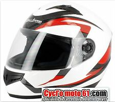 Casque Moto / Scooter Intégral S-line Blanc Rouge S