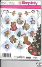 2545 CHRISTMAS DECORATIONS  NEW SEWING PATTERN SIMPLICITY 2545