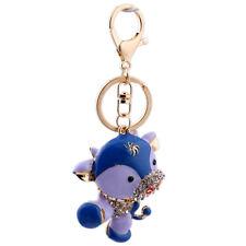 Handbag Buckle Charms Accossries Purple Cute Cow Keyrings Key Chains HK85
