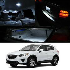 12-Up Mazda CX5 AWD SUV Interior LED HID Xenon Light Bulb Full Package (White)