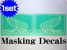 1SET HONDA WING LOGO MASKING DECAL STICKER DIE CUT Z50 Fuel tank Gorilla Monkey