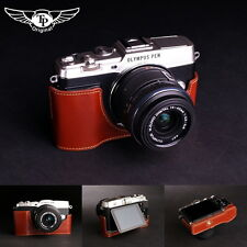 Handmade Genuine real Leather Half Camera Case bag cover for Olympus EP5 E-P5