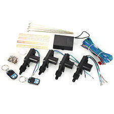 Universal 4 Door Car Central Power Door Lock /Unlock Remote Kit 2 Keyless Entry