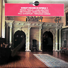 ECS 811 Great Voices In Opera 1 Tebaldi Del Monaco etc NM/EX Decca Eclipse