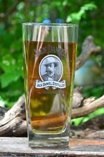 Jack Daniels Cameo Portrait Tall Glass - Tennessee Whiskey - Old No. 7 - 14 oz