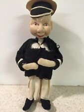 "VINTAGE Rare 1960 SHACKMAN Sailor Boy Doll 8"" Cloth Wood MADE IN JAPAN"