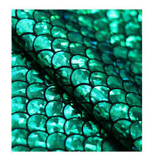 Mermaid Hologram Green Metallic Spandex Lycra Fabric Foil Shiny Holo Ariel