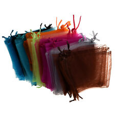 """48 Organza DrawstRing Pouches Gift Bags Assorted Colors 4x5"""" CP"""
