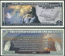 Lot of 25 Bills - JESUS SERENITY PRAYER MILLION DOLLAR NOVELTY BILL