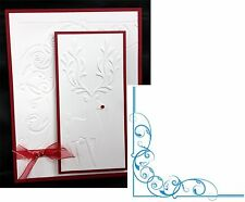 CRAFTER'S COMPANION embossing folders REGAL CORNER folder Swirl Wedding EF6RGLCO