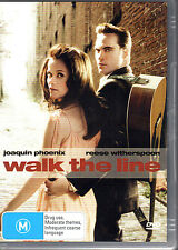 WALK THE LINE - DVD R4 Joaquin Phoenix Reese Witherspoon - LIKE NEW - FREE POST