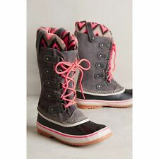 Sorel JOAN of Arctic Knit 2 II Women waterproof Snow winter Boots Shale GRAY 9