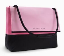 VICTORIA'S SECRET PINK BLACK BEACH COOLER BAG TOTE SHOULDER SWIM LUNCH PICNIC