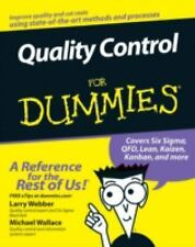 Quality Control for Dummies - Webber, Larry - Paperback