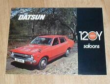 Datsun 120Y Saloon Brochure / Flyer 1974