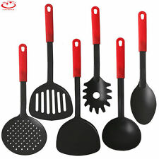 Non-Stick 6 Piece Black Nylon Kitchen Tool Set Cooking Utensil Gadget Tool