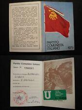 TESSERA PARTITO COMUNISTA ITALIANO 1979