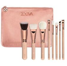 Professional 8Pcs Sale Zoeva Make Up Eyes Shadow Eyeliner Brush Set + Zipper Bag