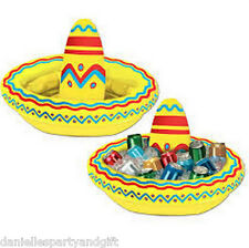 Fiesta Inflatable Sombrero Cooler (18 X 12 inches)  - 50254