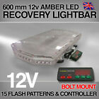 LED 600mm BOLT MOUNT Amber Light Bar Strobe Beacon Recovery 60 CM 0.6 Metre 24""