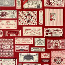 Moda American Jane Savonnerie Soap Label in Red Fabric by Sandy Klop 21630-13