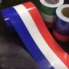 Car PVC Body Sticker French Flag Stripes Decal Self-adhesive Removable Universal