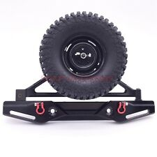 1/10 Scale Axial SCX10 Aluminum CNC Rear Bumper With Spare Tire Carrier BLACK