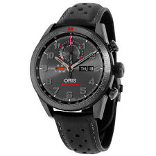 Oris Artix GT Audi Sport Chronograph Black Dial Black Leather Watch