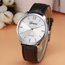 Fashion Women Watch Leather Band Analog Alloy Quartz Wrist Watch Black