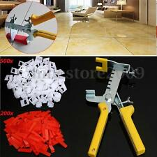 701 Tile Leveling System 500x Clips + 200x Wedges + 1x Plier Floor Spacer Tiling