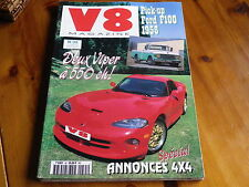 V8 MAGAZINE n° 35 VIPER GTS - PICK-UP FORD F100 - FIREBIRD 68 comme neuf