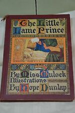 1937 The Little Lame Prince By Miss Mulock Illus By Hope Dunlap Vintage Book
