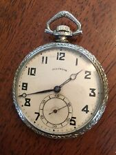 1921 ILLINOIS WATCH Co.12s Pocket Watch  Stewart Special Elgin Tivoli 14k Case