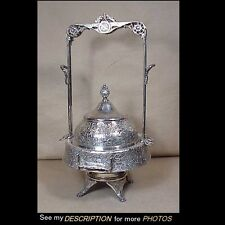 Great Antique Aesthetic Silver Plate Mechanical Butter Dish Hartford Silver