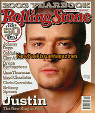 Rolling Stone 1/04,Justin Timberlake,Uma Thurman,Britney Spears,January 2004,NEW