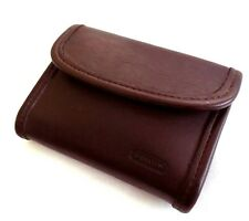 Sweet Vtg Coach Pocket Wallet Snap Coin Purse Leather Mini Clutch Mahogany Brown