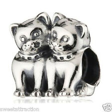 New Authentic Pandora Charm 791119 Love Kittens Bead Box Included