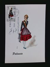 SPANIEN MK 1970 TRACHTEN PALENCIA COSTUMES MAXIMUMKARTE MAXIMUM CARD MC CM c5509