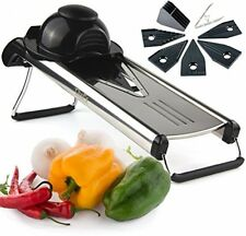 Chef's INSPIRATIONS Premium V Blade Stainless Steel Mandoline Food Slicer, and