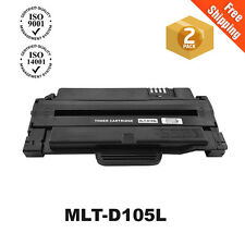 2PK MLT-D105L Toner Cartridge For Samsung ML-2525 ML-2525W SCX-4623F SCX-4600