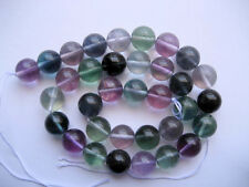 Multi Fluorite round beads 12mm. Colorful fluorite beads. 12mm round beads