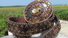 NEW NOCONA M belt womens leather bling huge buckle croc gator rhinestones 34-38""