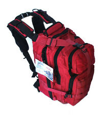 Red EMT Medic First Aid Tactical Military Style Emergency Pack Backpack w/ Molle